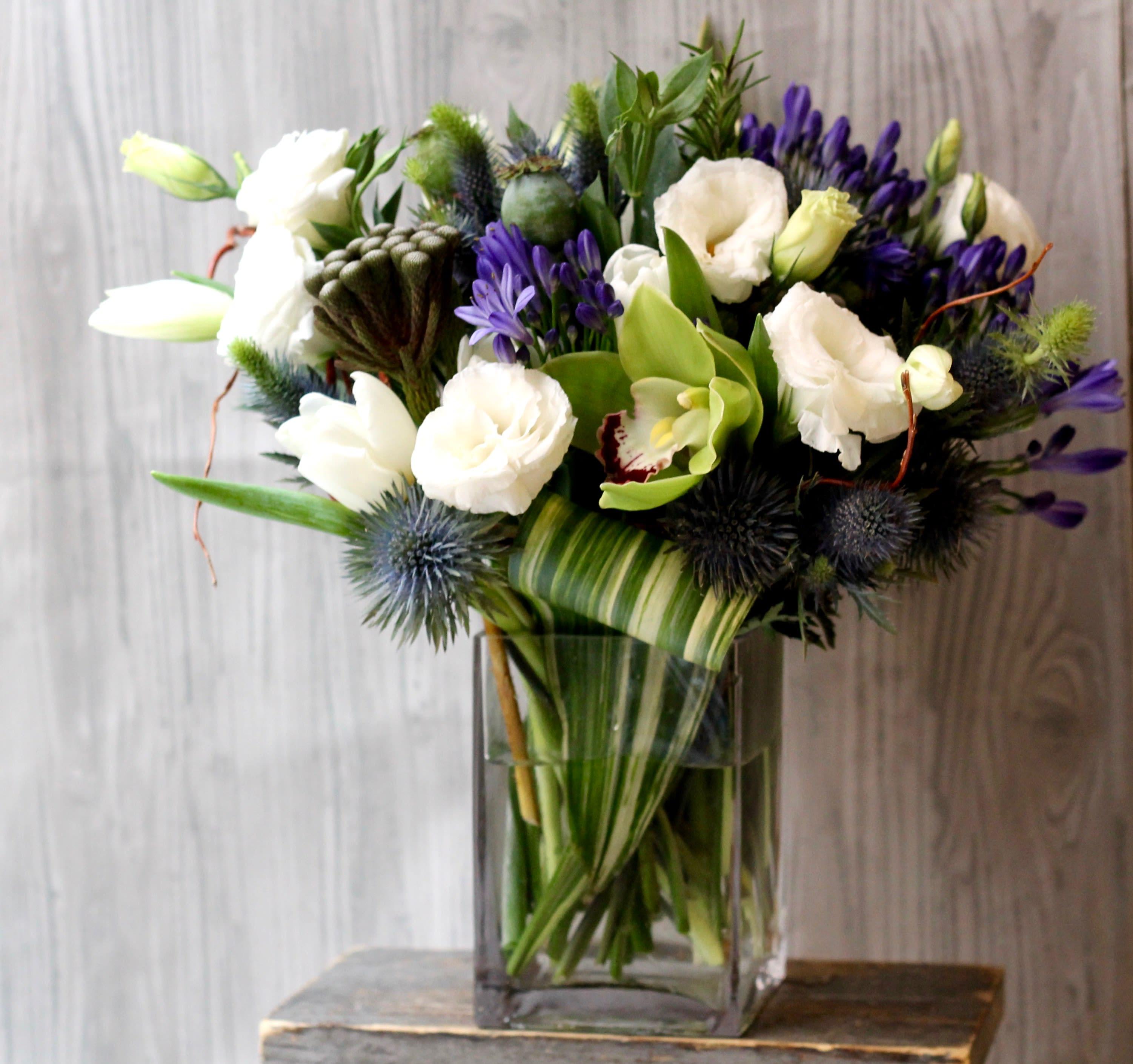 Blue Thistle In New York Ny Gotham Florist