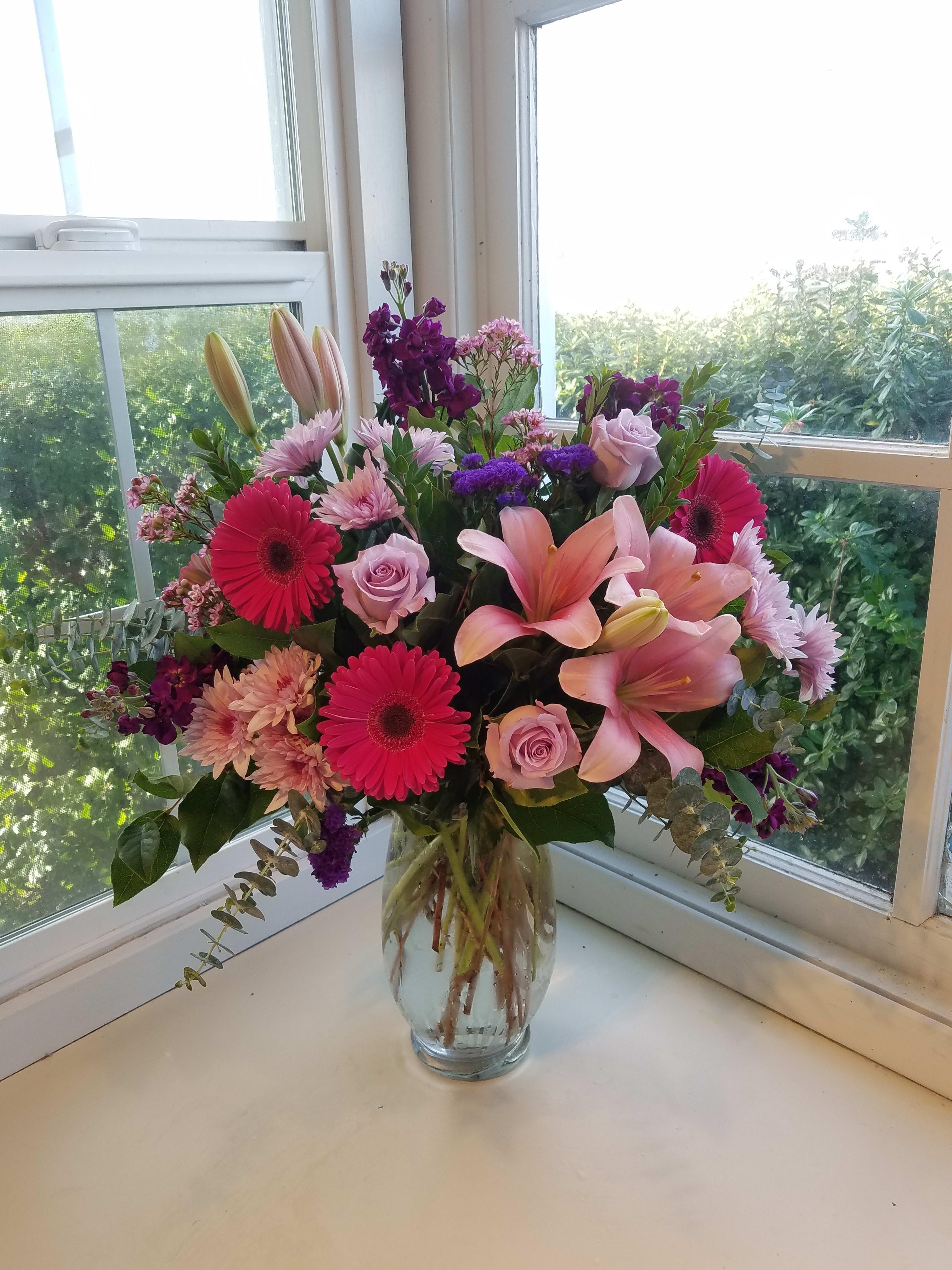 Raspberry Beret floral tiara Silk daisies geraldton wax and more! raspberries