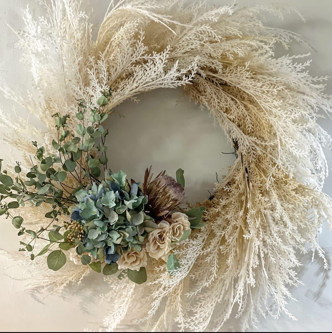 Whimsical Flower Wreath
